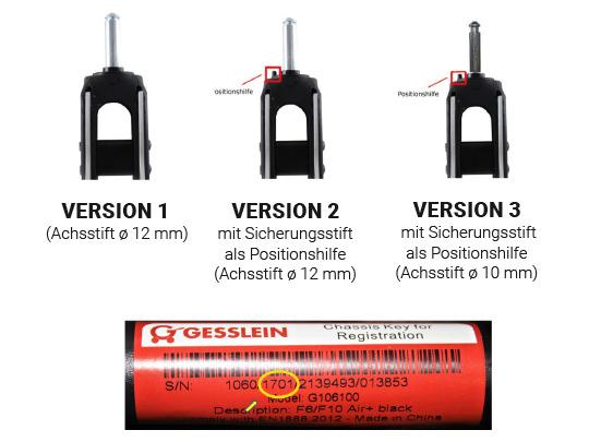 Bei Wechselachsen sind 3 Versionen möglich