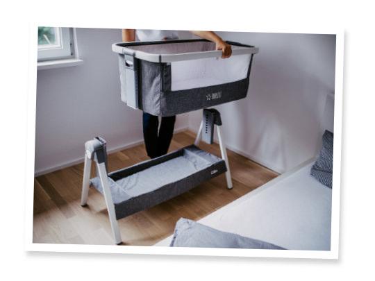 5. ist transportabel, so dass Dein Baby auch unterwegs in seiner gewohnten Umgebung schlafen kann