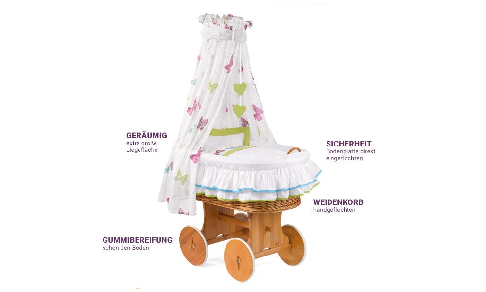 Stubenwagen Himmel Und Nest : Ullenboom nestchen rosa grau ullenboom nestchen rosa grau